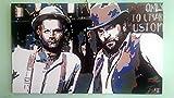 Bud Spencer und Terence Hill–Bild moderne handbemalt–Pop Art Effect (Format 90x 50cm)