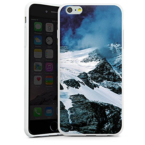 Apple iPhone X Silikon Hülle Case Schutzhülle Gebirge Berge Schnee Silikon Case weiß