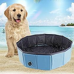 YITOO Perros bañera respetuoso con el medio ambiente mascotas Pool de baño para mascotas Natación Pool, 160cm de diámetro, altura 30cm, PVC