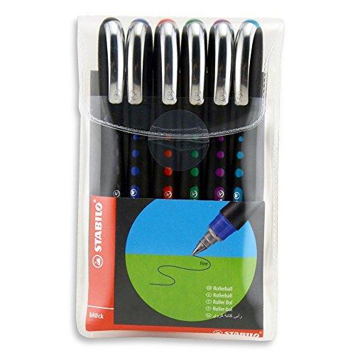 Roller tinta líquida STABILO Bl@ck - Estuche 6 colores