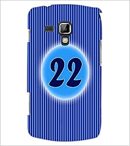 PrintDhaba Numerology Number 22 D-2580 Back Case Cover for SAMSUNG GALAXY S DUOS 2 S7582 (Multi-Coloured)