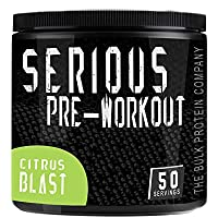 The Bulk Protein Company Serious Pre-Workout Powder 50 Servings (Citrus Blast)