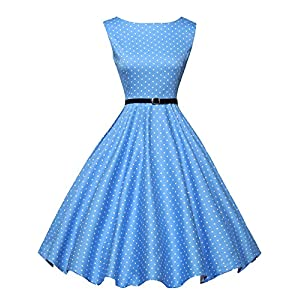 GRACE KARIN 1950 retrò Rockabilly Polka Vestito da Audery Swing Abito da Cocktail