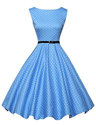 GRACE KARIN 1950 retrò Rockabilly Polka Vestito da Audery Swing Abito da Cocktail
