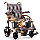 Yongfeng Sedia a rotelle elettrica, Lega di Alluminio Leggera Piegatura Medico, da 12 Pollici Non-Slittamento delle Ruote Posteriori for Il Trasporto e di Viaggio, Larghezza Sedile 18 Pollici Sedia a