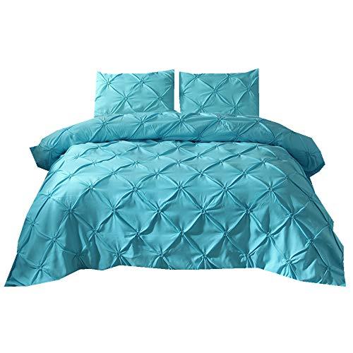 Stillshine Bettwäsche Set Bettbezug 150x200cm Dreidimensionale Prise Falten Blau Bettbezug + Kissenbezug 50x75cm mit Reißverschluss Luxus -Bettwäsche Set (Luxus Bettwäsche-set Sterne)