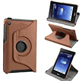 Bestdeal® New Ultra Slim 360 Rotating Lightweight Case Stand Cover For Asus Fonepad 8 FE380CG 8' Tablet PC (With Smart Cover Auto Sleep / Wake Feature) All Colours Available + Free Screen Protector And Stylus pen (Brown)