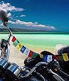 #7: Improvhome Tibetan Buddhist Prayer Flags for Motorbike