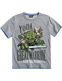 Star Wars T-Shirt Kollektion 2016 Shirt 110 116 122 128 134 140 146 152 Jungen Neu Yoda Grau