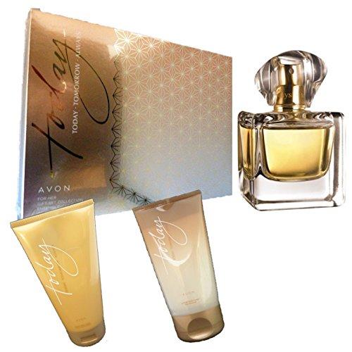 Avon Today Tomorrow Always luxuriöses Set Geschenkbox1x Eau de Parfum1x Bodylotion 1xDuschgel Today