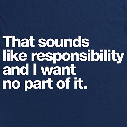Responsibility T-shirt, Uomo Blu navy