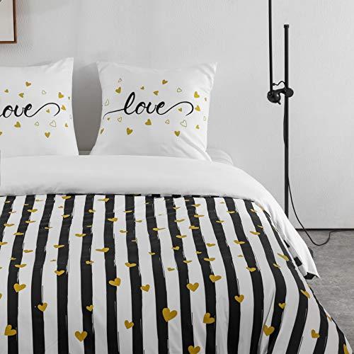 AYA Sets de Housse de Couettes 220x240cm + 2taies d'oreillers 65x65cm Parure de Lit Motif 5