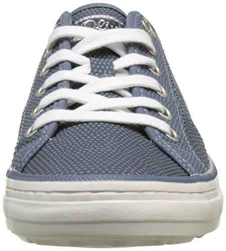 s.Oliver 23640, Sneakers Basses Femme Bleu (DENIM 802)
