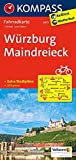 Würzburg - Maindreieck: Fahrradkarte. GPS-genau. 1:70000 (KOMPASS-Fahrradkarten Deutschland, Band 3073) -