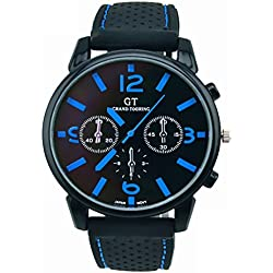 Tonsee 1PC Men Fashion Stainless Steel Sport Cool Quartz Hours Wrist Analog Watch