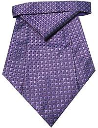 Riyasat - Multi Color Self Design Micro Fiber Cravat with Pocket Square (C_0064)