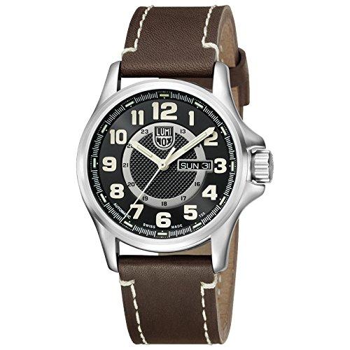 Luminox - reloj de pulsera para hombre - Field Automatic - analógico - automático - marrón/Plateado - 1801