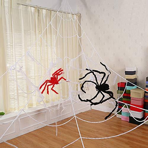 Wankd Weißes Spinnennetz, Spinnennetz deko, 7 *
