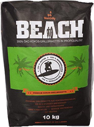 10 Kg Beach Kokos Grill Briketts von BlackSellig reine Kokosnussschalen Grillkohle - perfekte Profiqualität - versandkostenfrei!!!!!