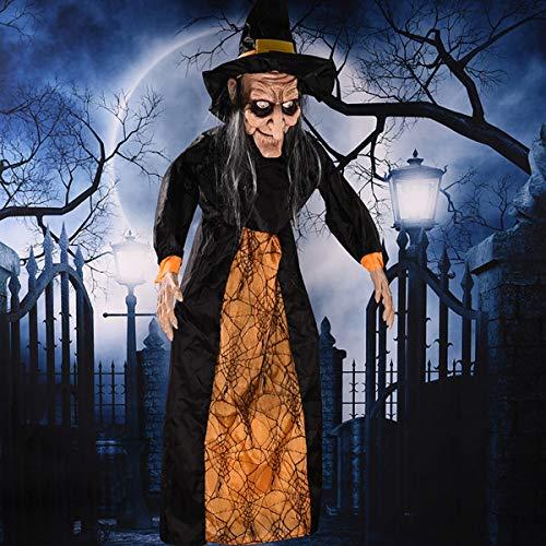 Bluelover Halloween Hexe Prop Party Bar Ktv Stimme Aktiviert Augen Leichte Hängende Dekorationen