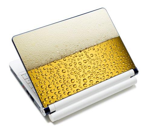 Luxburg® Design Aufkleber Schutzfolie Skin Sticker für Notebook Laptop 10 / 12 / 13 / 14 / 15 Zoll, Motiv: Bier - Design Notebook Skin