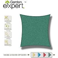 GardenExpert toldo de vela 3 x 3 m, perfecto para jardín, al aire libre, patio y fiestas, rectangular, verde