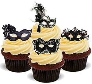 Masquerade Cake Toppers Uk