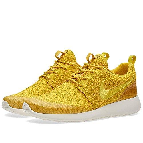 Nike WMNS Roshe One Flyknit, Chaussures de Sport Femme, Jaune