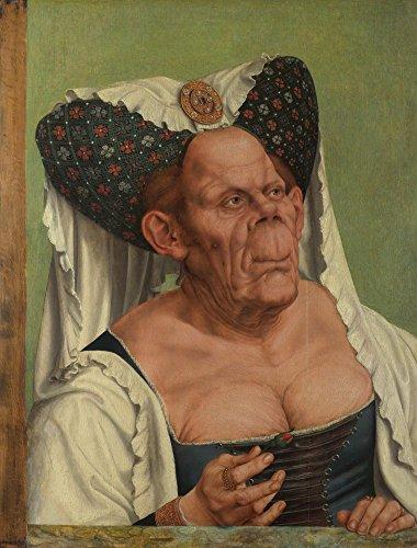 Das Museum Outlet–Quinten Massys–eine alte Frau (The Ugly Duchess), gespannte Leinwand Galerie verpackt. 29,7x 41,9cm