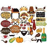 Dimoxii Foto Booth, Foto Requisiten Set für Halloween, Hochzeit, Geburtstag, Abschlussfeier Oder Jede Andere Party Dekoration (Danksagung 47er)