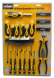 Rolson 36825 Screwdriver and Plier Set - 45 Pieces