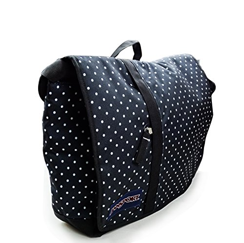 JanSport Borsa Messenger, Black/White Dreamweaver (Nero) - JTPF36TR Black/White Dreamweaver