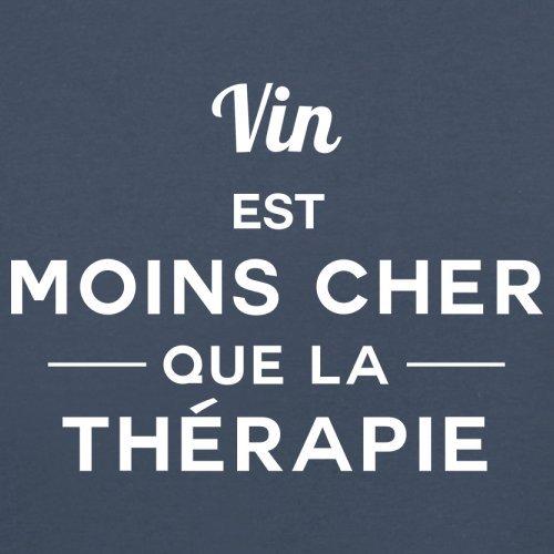 Vin est moins cher que la thérapie - Femme T-Shirt - 14 couleur Bleu Marine