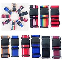 Confezione da 2 bagagli cinghie. Confezione da 2 cinture Valigia regolabile con la modifica. I colori misti. 2M x 5cm