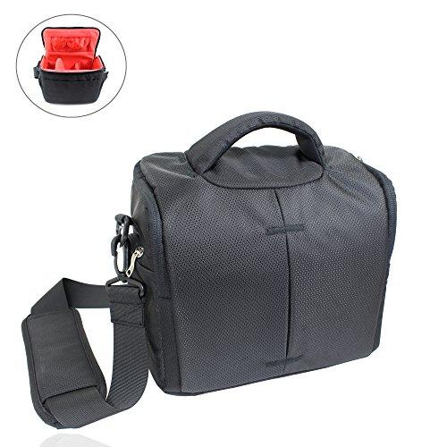 Smart-Planet® hochwertige, große SLR Kameratasche / Spiegelreflexkamera Tasche mit vielen Fächern inkl. Regenhülle - Kamera Tasche schwarz