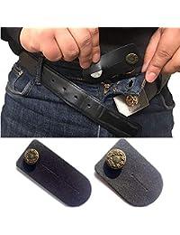 Taille Extender Lot de 2 pour homme ou femme (Noir) avec BOUTON DE Bronze  pour Jeans, pantalons, jupes ou… 440afe7ca604