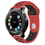 10principales Samsung Gear S3Bracelet de montre, bracelet de rechange Bracelet Sangle en silicone pour Samsung Gear S3Frontier/classique Smart Watch M F