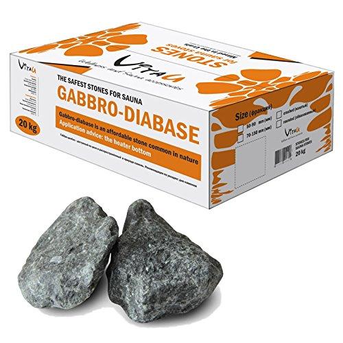 Reko Freizeitbedarf Original Gabbro-Diabas Saunasteine 20 kg Größe 2: 7–15 cm