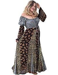 LOTUSTRADERS Damen Batik Patchwork Kleid