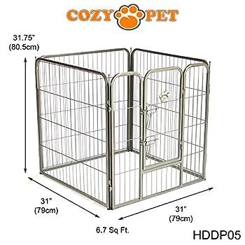 Cozy Pet Parc pour chiot robuste - 3 tailles différentes - pour Chiens Chiots Animaux de compagnie - en Argent-Gris Taille Moyen - HDDP05