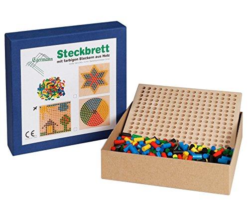 Egermann EH213/231 - Steckspielbrett Holzsteckspiel Reihe, Kleinkindspielzeug