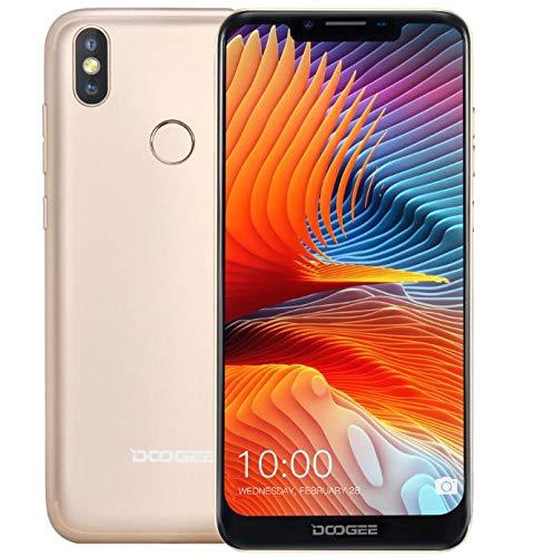 Doogee bl5500 lite - smartphone libero android 8.1 (lte 4g) - ultrasottile con batteria da 5500 mah, schermo u-notch da 6,19 pollici (rapporto a visualizzazione completa 19: 9) - oro