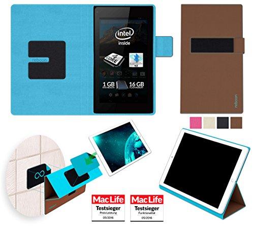 reboon Allview WI7 Android Hülle Tasche Cover Case Bumper | Braun | Testsieger