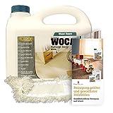 Woca Holzbodenseife weiß 1 Liter inkl. Baumwollmop und Pflegeanleitung