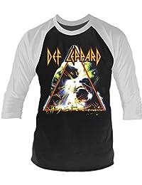 Plastic Head Official Def Leppard - Hysteria - Baseball Raglan 3/4 Length Sleeve Shirt