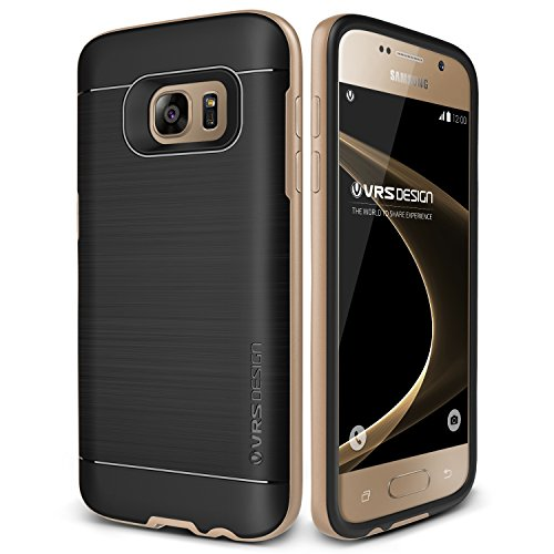 Galaxy S7 Hülle, VRS Design® Schutzhülle [Gold] Schlagfesten Stoßstangen TPU Bumper Case Kratzfeste Schlanke Handyhülle [High Pro Shield] für Samsung Galaxy S7 2016