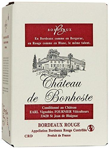 Château de Bonhoste 2017 A.O.C. Bordeaux Rotwein trocken Bag-in-Box Wein 5 Liter aus Frankreich (1x5l)