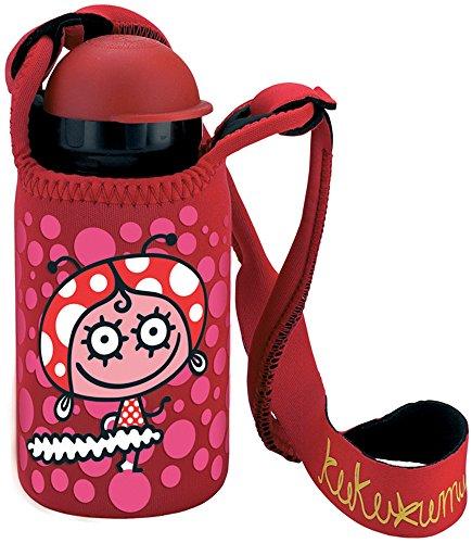 en in Edelstahl mit Isolierung Vakuum und Mund Enge 350ml Kukuxumusu flamenquita mit Neopren Tasche (Chemische Reaktionen Für Kinder)