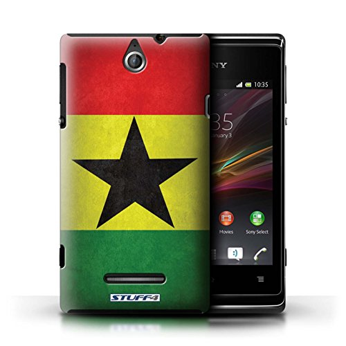 Kobalt® Imprimé Etui / Coque pour Sony Xperia E / Finlande/finlandais conception / Série Drapeau Ghana