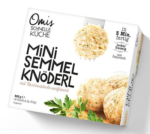 Omis Schnelle Küche – Mini Semmelknödel Beilage TK Zwiebeln Bratenbeilage Österreich – 6St/300g
